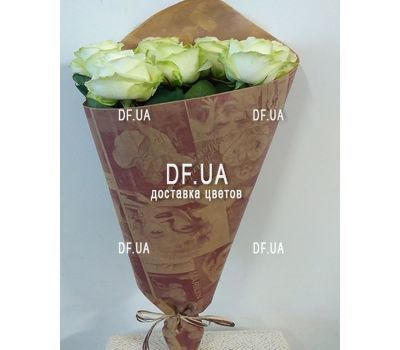 """Seven white roses - view 2"" in the online flower shop df.ua"