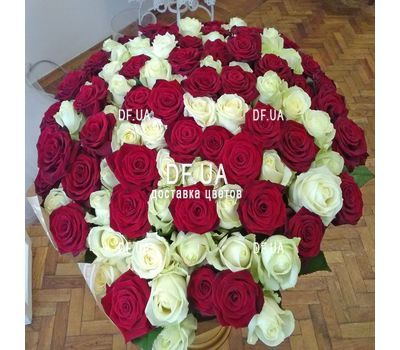 """Elegant bouquet of roses - view 3"" in the online flower shop df.ua"