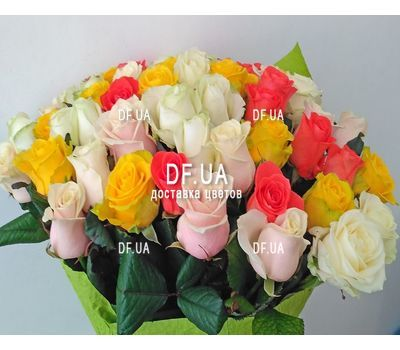 """Bright bouquet roses - view 2"" in the online flower shop df.ua"