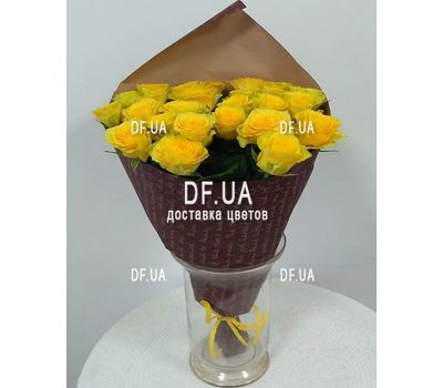 """Yellow roses bouquet - wiev 1"" in the online flower shop df.ua"