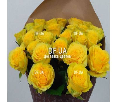 """Yellow roses bouquet - wiev 2"" in the online flower shop df.ua"