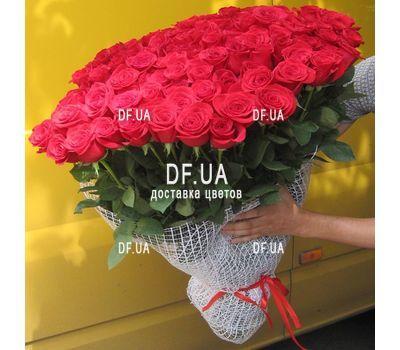 """""""101 эквадорская роза - вид 1"""" в интернет-магазине цветов df.ua"""