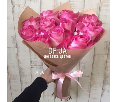 """Bouquet 11 pink roses - view 1"" in the online flower shop df.ua"