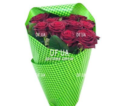"""""""Bouquet of 15 red roses in craft - view 5"""" in the online flower shop df.ua"""
