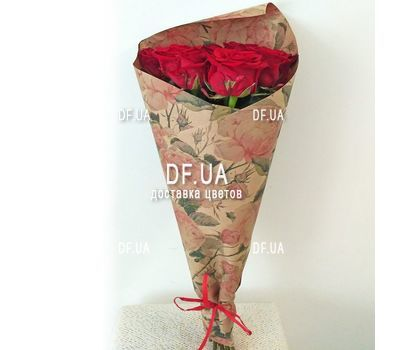"""Bouquet of nine roses - view 1"" in the online flower shop df.ua"