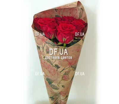 """Bouquet of nine roses - view 2"" in the online flower shop df.ua"