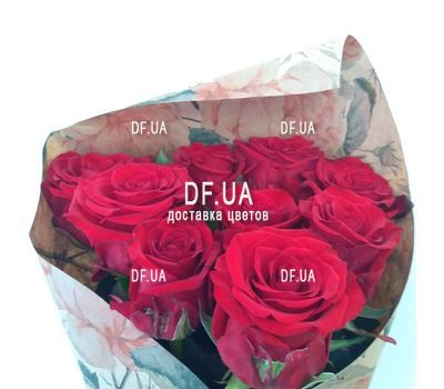 """Bouquet of nine roses - view 3"" in the online flower shop df.ua"