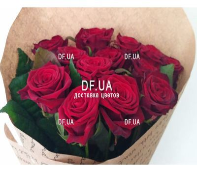 """A bouquet of red roses - view 7"" in the online flower shop df.ua"