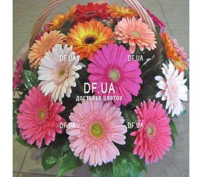 """Basket of 21 gerberas - view 2"" in the online flower shop df.ua"