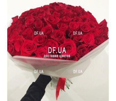 """""""101 эквадорская роза - вид 3"""" в интернет-магазине цветов df.ua"""