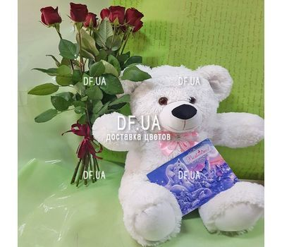 """Bouquet of 11 red roses - view 6"" in the online flower shop df.ua"