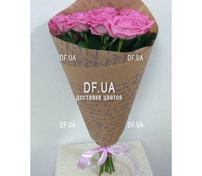"""Bouquet 11 pink roses - view 2"" in the online flower shop df.ua"