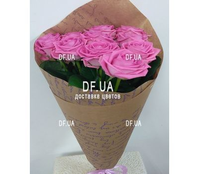 """Bouquet 11 pink roses - view 3"" in the online flower shop df.ua"
