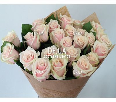 """Bouquet of 25 cream-colored roses - view 2"" in the online flower shop df.ua"