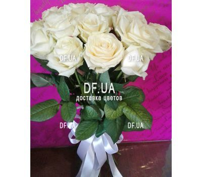 """""""Bouquet of 15 white roses - view 6"""" in the online flower shop df.ua"""
