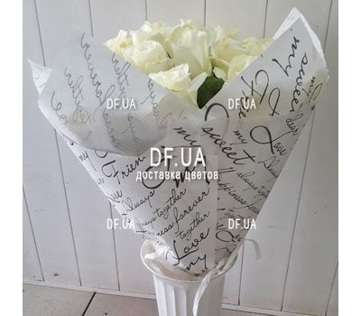 """Bouquet of 43 white roses - view 1"" in the online flower shop df.ua"