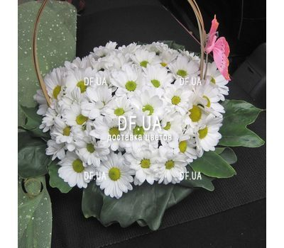 """""""Composition in a basket of chrysanthemums - view 1"""" in the online flower shop df.ua"""