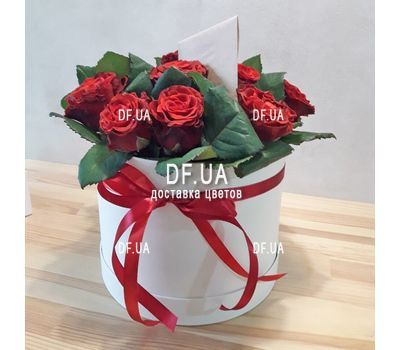 """11 red roses in a box - view 2"" in the online flower shop df.ua"