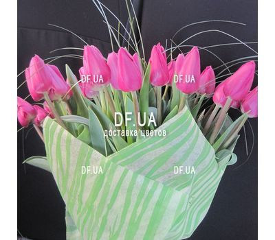 """41 pink tulips in a bouquet - view 1"" in the online flower shop df.ua"