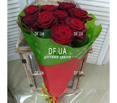 """9 red roses - view 8"" in the online flower shop df.ua"