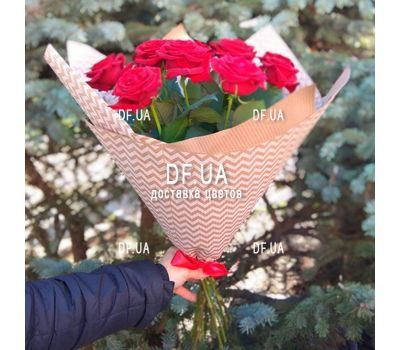 """Bouquet of 11 red roses - view 7"" in the online flower shop df.ua"