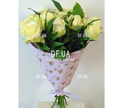 """Bouquet of 15 roses in craft - view 6"" in the online flower shop df.ua"