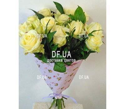 """Bouquet of 15 roses in craft - view 7"" in the online flower shop df.ua"