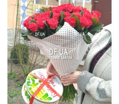 """Bouquet of 55 red roses - view 1"" in the online flower shop df.ua"