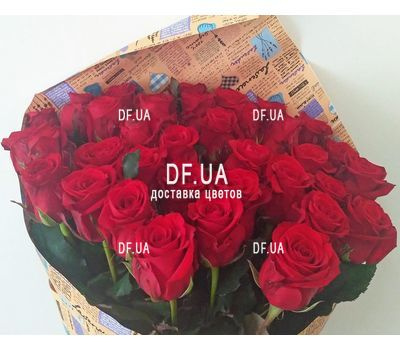 """Bouquet of scarlet roses - view 2"" in the online flower shop df.ua"