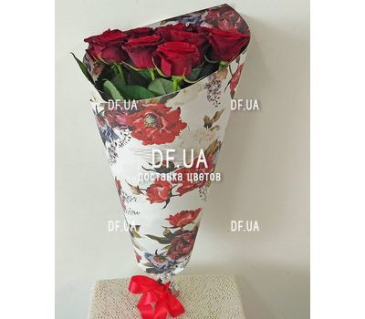 """Bouquet of nine roses - view 4"" in the online flower shop df.ua"