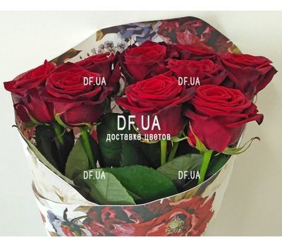 """Bouquet of nine roses - view 5"" in the online flower shop df.ua"