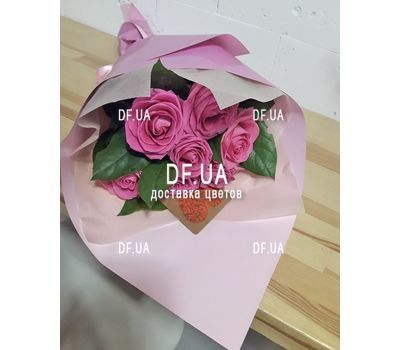 """""""Bouquet of seven roses - view 4"""" in the online flower shop df.ua"""