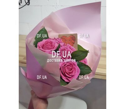 """""""Bouquet of seven roses - view 5"""" in the online flower shop df.ua"""