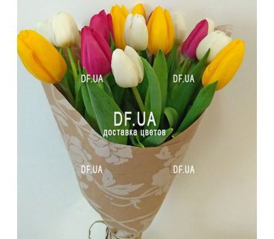 """""""Bouquet of tulips - view 1"""" in the online flower shop df.ua"""