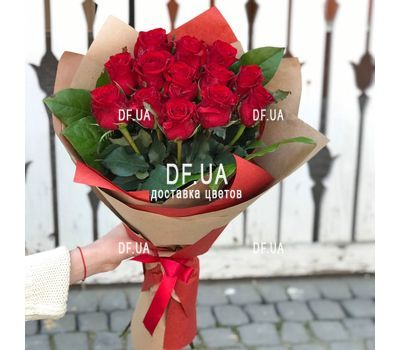 """A bouquet of red roses - view 8"" in the online flower shop df.ua"