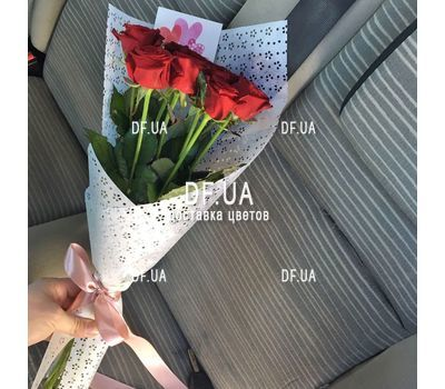 """Classic bouquet of roses - view 6"" in the online flower shop df.ua"