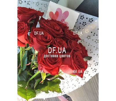 """Classic bouquet of roses - view 7"" in the online flower shop df.ua"