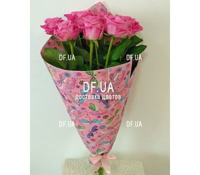 """Delicate bouquet of pink roses - view 1"" in the online flower shop df.ua"