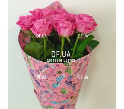 """Delicate bouquet of pink roses - view 2"" in the online flower shop df.ua"