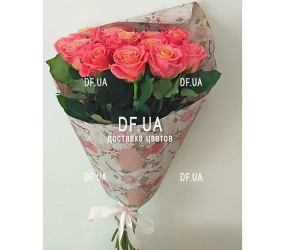 """17 peach roses - view 1"" in the online flower shop df.ua"