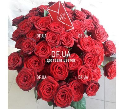 """A bouquet of 51 red roses - view 6"" in the online flower shop df.ua"