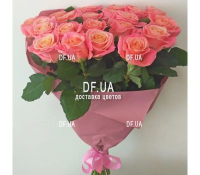 """Bouquet of 21 roses - view 1"" in the online flower shop df.ua"