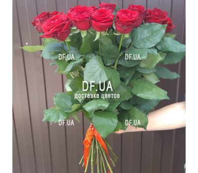 """Bouquet of 25 red roses with ribbon - view 3"" in the online flower shop df.ua"