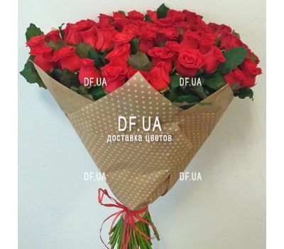 """Bouquet of 55 red roses - view 3"" in the online flower shop df.ua"