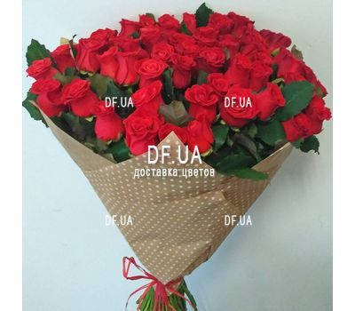 """Bouquet of 55 red roses - view 4"" in the online flower shop df.ua"