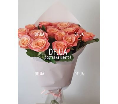 """""""Real bouquet of roses - view 2"""" in the online flower shop df.ua"""