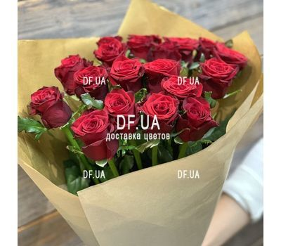 """Bouquet of 19 red roses - view 6"" in the online flower shop df.ua"