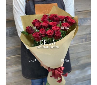 """Bouquet of 19 red roses - view 7"" in the online flower shop df.ua"