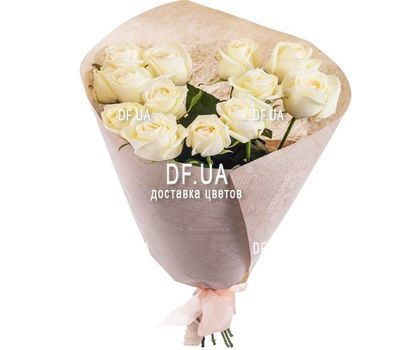 """13 white roses"" in the online flower shop df.ua"