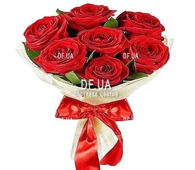 """Bouquet of 7 roses"" in the online flower shop df.ua"